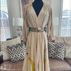 LAMB Silk Wrap Dress